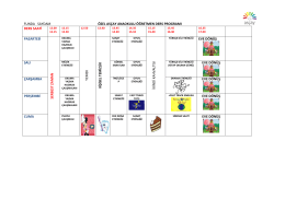 funda saydam özel asçay anaokulu öğretmen ders programı