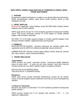 FKS Boru Şartnamesi