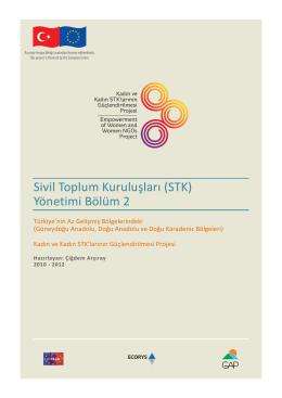 Sivil Toplum Kuruluşları (STK) Yönetimi Bölüm 2