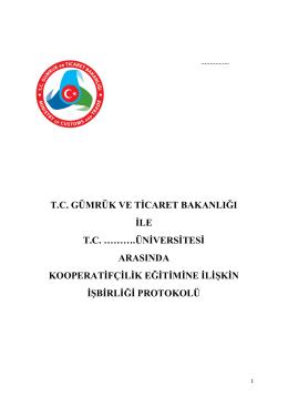 KOOP-GEP Örnek Protokol - Gümrük ve Ticaret Bakanlığı