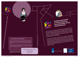 Broşür: Lanzarote Şözleşmesi Nedir?