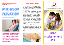 gebe bilgilendirme sınıfı - Amasya Halk Sağlığı Müdürlüğü