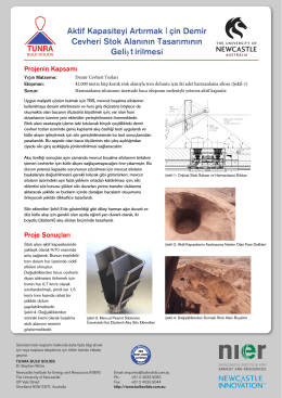 Aktif Kapasiteyi Artırmak İ çin Demir Cevheri Stok Alanının