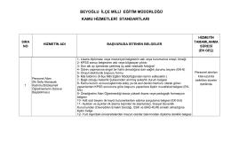 beyoğlu ilçe milli eğitim müdürlüğü kamu hizmetleri standartları