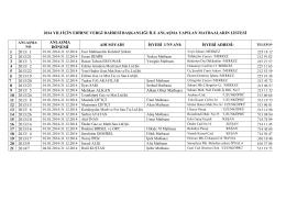 Edirne Vergi Dairesi Başkanlığı 2014 Yılı Anlaşmalı Matbaalar Listesi