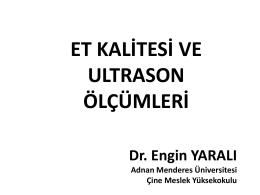 et kalitesi ve ultrason ölçümleri - EKKIP
