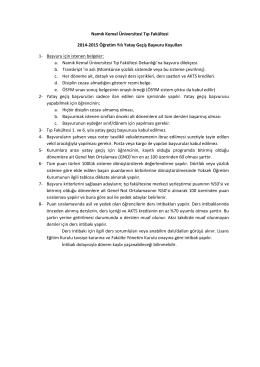 Namık Kemal Üniversitesi Tıp Fakültesi 2014-2015 - E