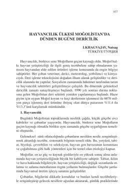 LKHAGVAJAV, Natsag-HAYVANCILIK ÜLKESİ MOĞOLİSTAN