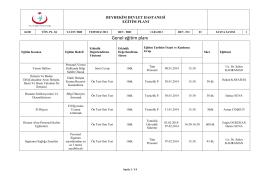 2014 genel eğitim planı - Beyhekim Devlet Hastanesi