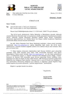 E-Fatura Hakkında-2 - Akdeniz İhracatçı Birlikleri