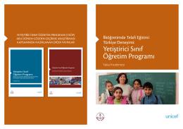 İlköğretimde Telafi Eğitimi Türkiye Deneyimi