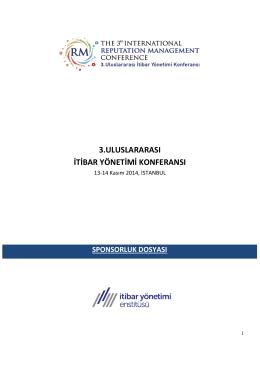 3.uluslararası itibar yönetimi konferansı