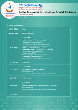 Sağlık Teknolojisi Değerlendirme 1. Yıllık Toplantısı