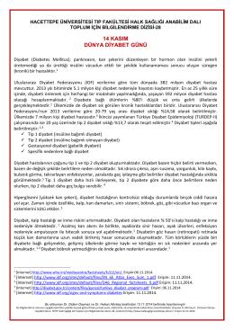 14 kasım dünya diyabet günü - Hacettepe Üniversitesi Tıp Fakültesi