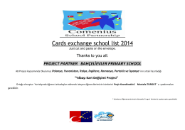 Cards exchange school list 2014