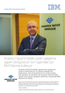 Anadolu Hayat Emeklilik yazılım geliştirme yaşam