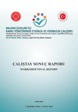 Balkan Ülkeleri İle Kamu Yönetiminde Etkinlik ve Verimlilik Çalıştayı