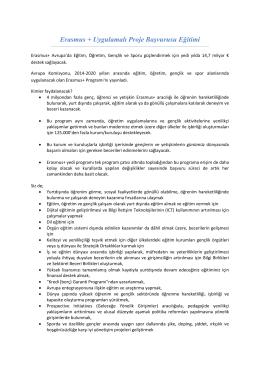 Erasmus + Uygulamalı Proje Başvurusu Eğitimi