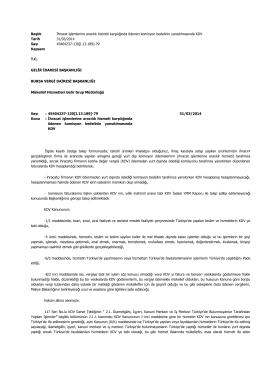 İhracat işlemlerine aracılık hizmeti karşılığında ödenen komisyon