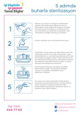 Buharla sterilizasyon nasıl yapılır yardım sayfası