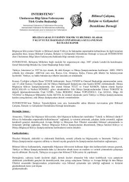 Bilimsel Çalışma, İletişim ve Gelişmeleri - İntersteno-Türk