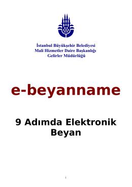 e-beyanname - İstanbul Büyükşehir Belediyesi Uygulamaları
