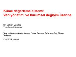 Küme değerleme sistemi - Yıldız Teknik Üniversitesi