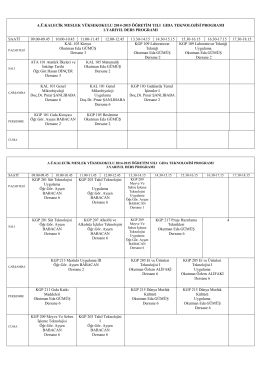 a.ü.kalecik meslek yüksekokulu 1998-1999 öğretim yılı bahçe ziraatı