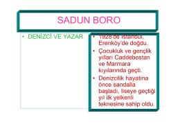 SADUN BORA