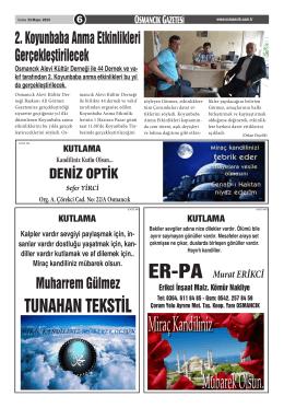 TUNAHAN TEKSTİL - Osmancık.com.tr