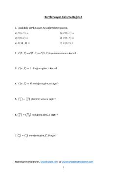 Kombinasyon Çalışma Kağıdı-1