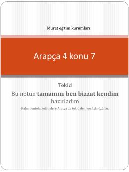 Arapça 4 konu 7