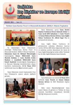 Türkiye-Gana Karma Ticari ve Ekonomik Komitesi (KEK) 4. Dönem