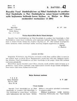 Devre : X ğ f% îçtima: 2 S. SAYISI : 4 2 Ruscuklu Yusuf Sümbüloğlu