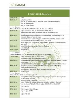 Sempozyum Programı - 1. ulusal mikoloji günleri