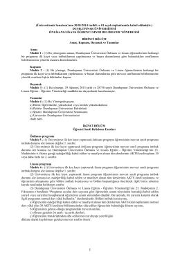Sınıf belirleme yönergesi - Dumlupınar Üniversitesi