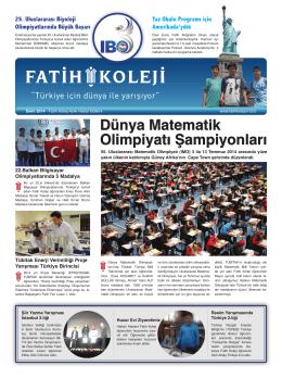 Bülten - Fatih Koleji Grafik Tasarım Grubu