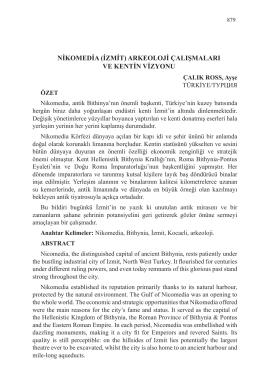 ÇALIK ROSS, Ayşe-NİKOMEDİA (İZMİT)