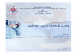 MSVS Sunumu - Sağlık Bakanlığı