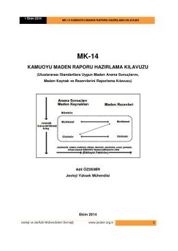 kamuoyu maden raporu hazırlama kılavuzu