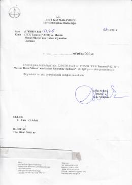 *ıaızaıa - mut ilçe millî eğitim müdürlüğü