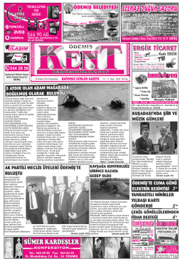 25-12-2014 Tarihli Kent Gazetesi