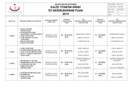 Doküman Numarası - Adana Devlet Hastanesi