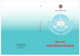 2014 yılı performans programı - Strateji Geliştirme Başkanlığı