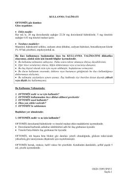 OGD-130913P4V1 Sayfa 1 KULLANMA TALİMATI