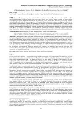 özgünlükleri - Türk Dili Bölümü