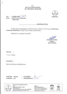 EKLER : \:W#ğ - mut ilçe millî eğitim müdürlüğü