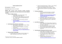 SOS 239-001 - Hacettepe Üniversitesi Sosyoloji Bölümü