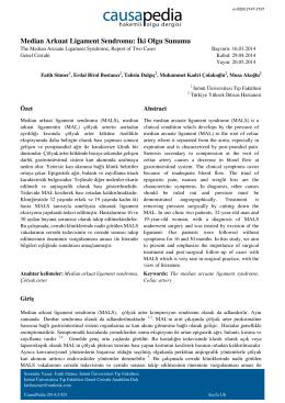 Median Arkuat Ligament Sendromu: İki Olgu Sunumu