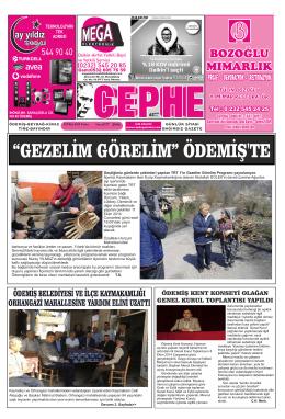 10.10.2014 Tarihli Cephe Gazetesi
